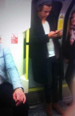 Harry Styles on the subway