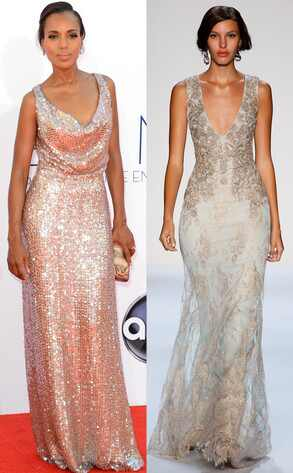 Emmy Awards, Kerry Washington, Badgley Mischka