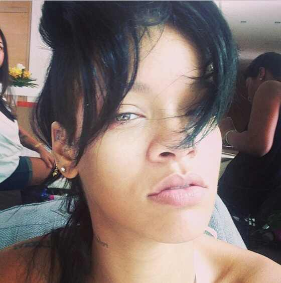 Rihanna, rihanna sem maquiagem