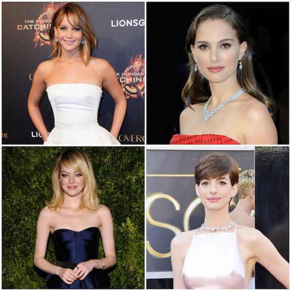 Jennifer Lawrence, Natalie Portman, Emma Stone, Anne Hathaway