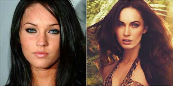 Megan Fox, antes e depois