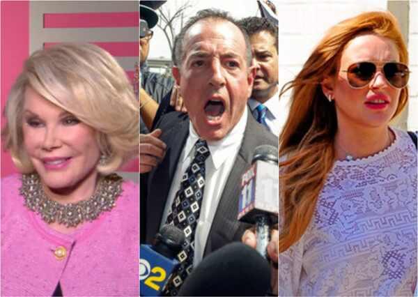 Joan Rivers, Michael Lohan, Lindsay Lohan