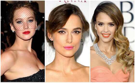 Beleza Emmy, Jennifer Lawrence, Keira Knightley, Jessica Alba
