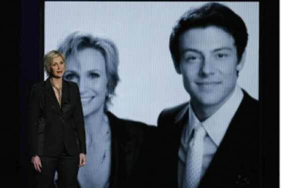 Cory Monteith, Jane Lynch, emmy awards
