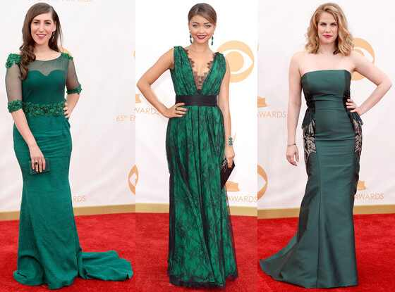 Green Gowns Trend, Emmy Awards 2013