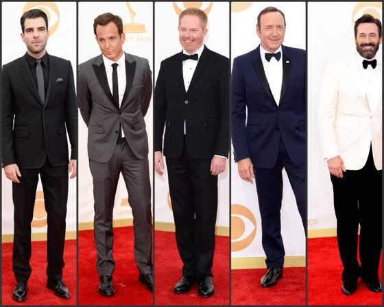 Homens e a moda no Emmy