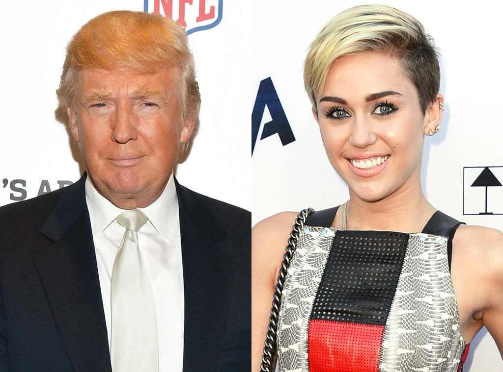 Donald Trump, Miley Cyrus