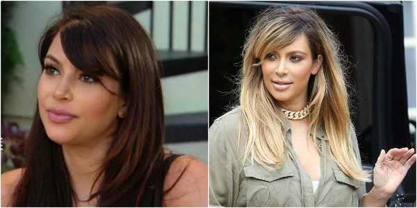 Kim Kardashian, loira e morena