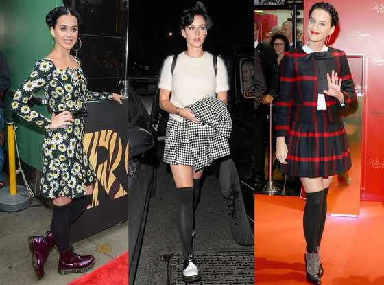 Katy Perry, Black Knee High Socks