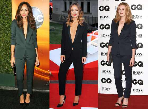 Plunging Pantsuits: Ashley Madekwe, Olivia Wilde, Laura Charmichael