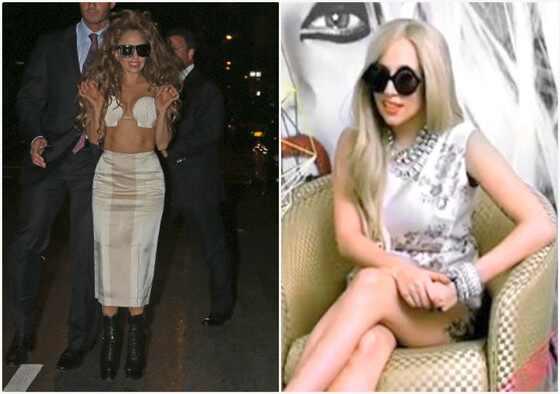 Gaga wears brazilian designers