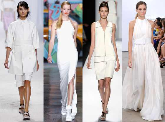 NYFW, Spring 2014 Trends, White, Fashion Week