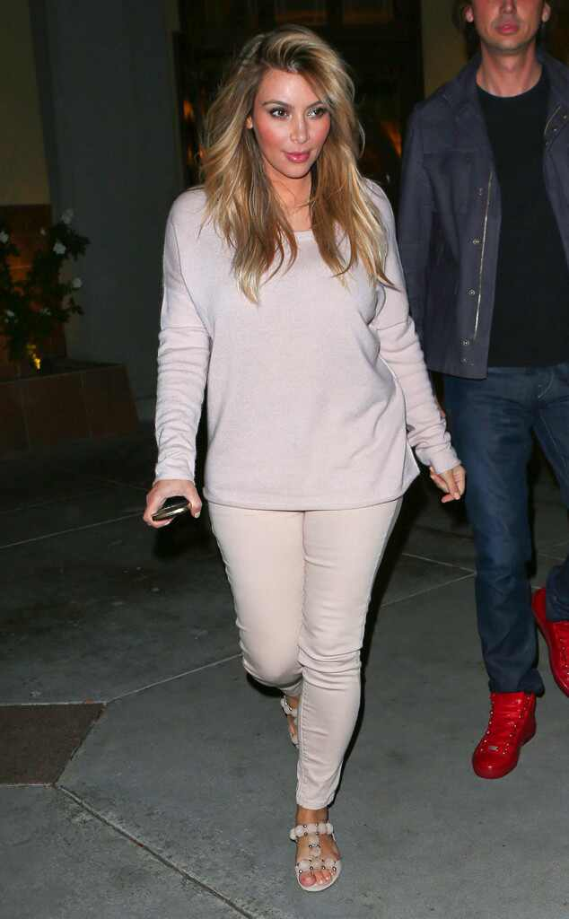 Casual Night Out from 35 Times Kim Kardashian Made Beige ...