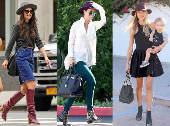 Hats, Katie Holmes, Kourtney Kardashian, Kristin Cavallari