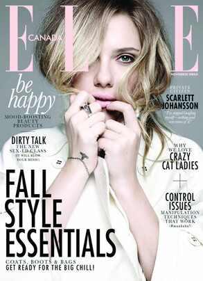 Scarlett Johansson, Elle Canada