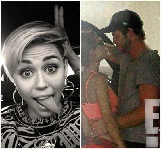 Miley Cyrus, Liam Hemsworth, Eiza Gonzalez