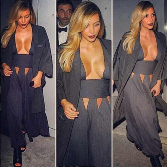 Kim Kardashian, Kim Kardashian look ousado