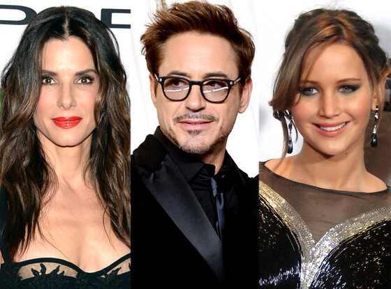 Sandra Bullock, Robert Downey Jr., Jennifer Lawrence