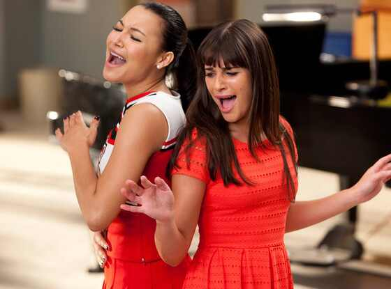 Naya Rivera, Lea Michele, Glee