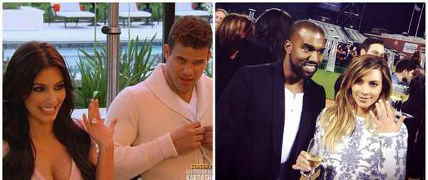 Kim Kardashian, Kris Humphries, Kanye West