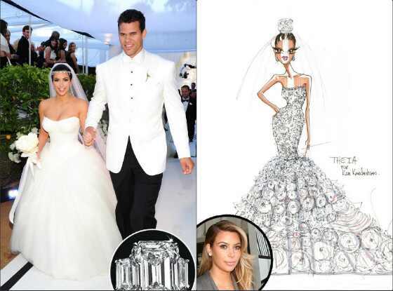 Kim Kardashian previsão vestido de noiva