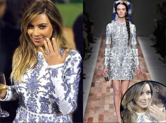 Kim Kardashian vestido do noivado por Valentino