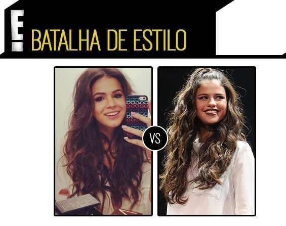 Bruna Marquezine, Selena Gomez, batalha de estilo