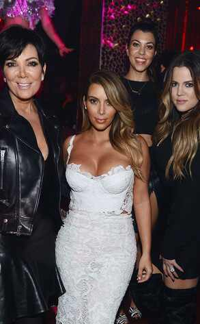 Kris Jenner, Kim Kardashian, Kourtney Kardashian and Khloe Kardashian