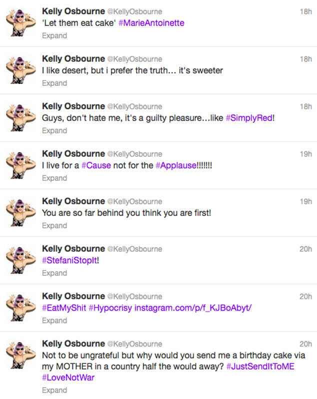 Kelly Osbourne, Twitter