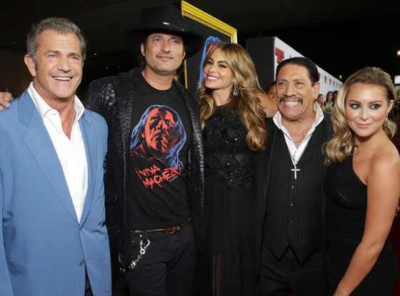 Mel Gibson, Robert Rodriguez, Sofia Vergara, Danny Trejo, Alexa Vega, Machete Kills