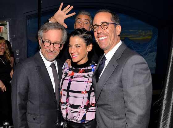 George Clooney, Steven Spielberg, Jessica Seinfeld, Jerry Seinfeld, Photobomb