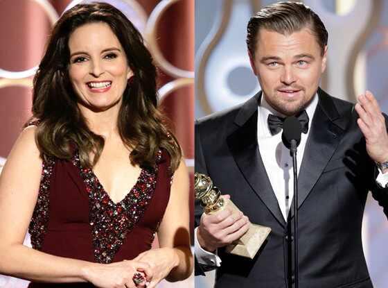 Leonardo DiCaprio, Tina Fey, Golden Globes 2014