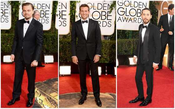 Mais gatos Globo de Ouro 2014, Leonardo DiCaprio, Bradley Cooper, Jared Leto
