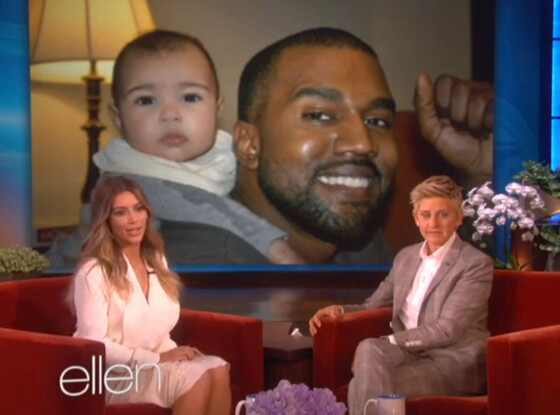 Kim Kardashian, Kanye West, North West, Ellen Degeneres, Ellen