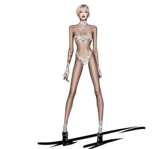 Miley Cyrus figurino Roberto Cavali