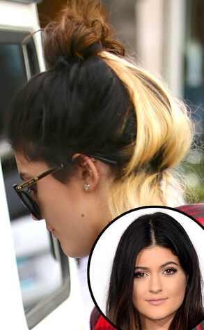 ¡Kylie Jenner se tiñó la mitad de su pelo de rubio! (+ Foto)