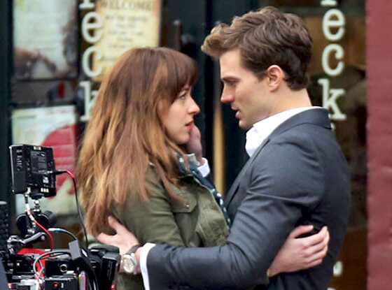 Jamie Dornan, Dakota Johnson, Fifty Shades Of Grey Set