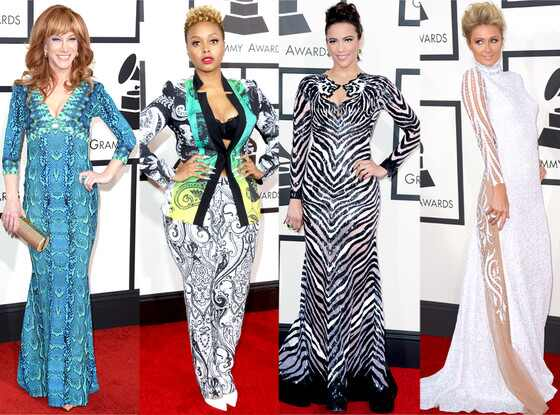 Paula Patton, Paris Hilton, Kathy Griffin, Chrisette Michele, GRAMMYS 2014