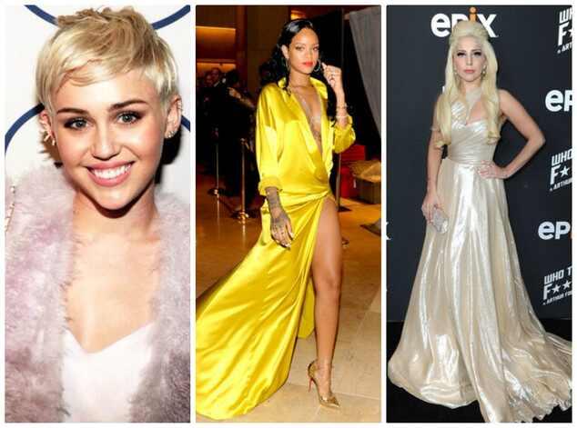 Miley Cyrus, Rihanna, Lady Gaga
