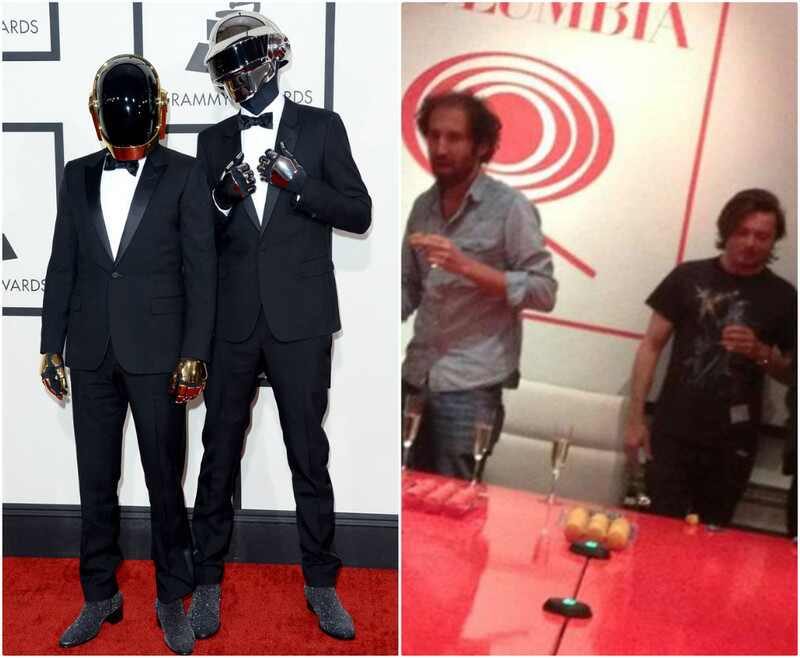Daft Punk fotos cantores sem capacete