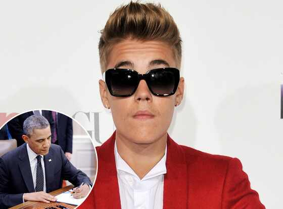 Justin Bieber, Petition, Barack Obama