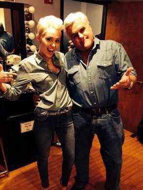 Miley Cyrus, Jay Leno, Twit Pic