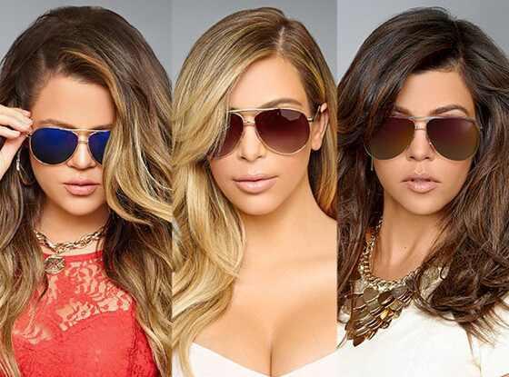 Kim Kardashian, Kourtney Kardashian, Khloe Kardashian, Eyewear