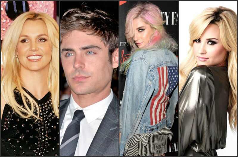 Britney Spears Zac Efron Kesha Demi Lovato