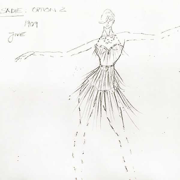 DWTS, Sadie Robertson Costume Sketch