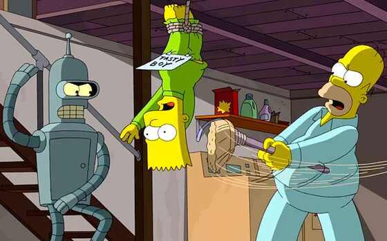 Futurama, Simpsons