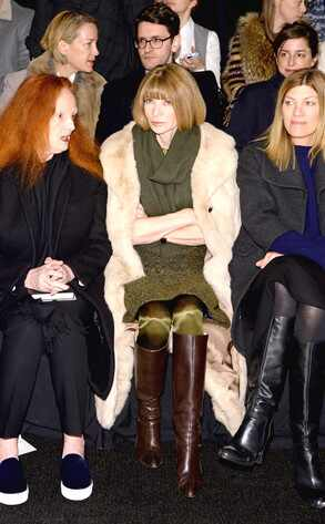 Grace Coddington, Anna Wintour, Victoria Smith, NYFW