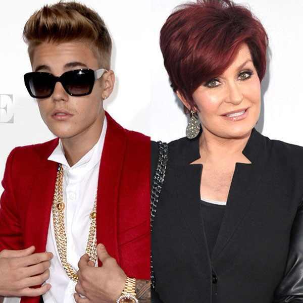 Justin Bieber, Sharon Osbourne