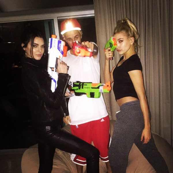 Kendall Jenner, Justin Bieber, Hailey Baldwin, Instagram