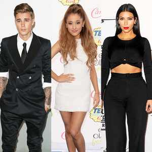 Justin Bieber, Ariana Grande, Kim Kardashian
